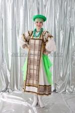 2085 . женский русский народный костюм