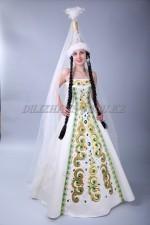 2015 Женское казахское национальное платье для Кыз Узату