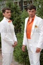 2396 Мужские белые смокинги для дружков жениха