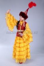 0077. Казахский национальный костюм для девочек