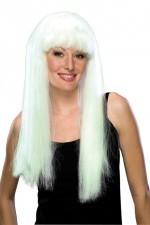 1582. парик белый светящийся