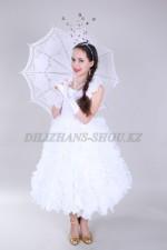 0332. Бальное платье с вертикальными оборками