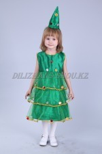 1097. Платье ёлочки с оборочками