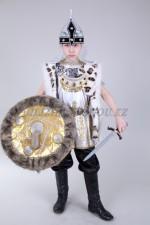 Костюм батыра в серебре с мехом
