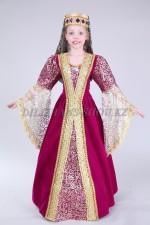 Кавказский костюм для девочки бардовый, костюм Хюрем
