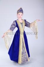 Синий кавказский костюм