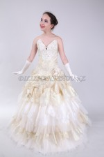 Бальное платье золотой
