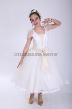 33549. Бальное платье средней длины с бантом