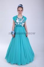 Платье голубое вечернее