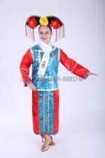 33584. Китайский костюм красно-голубой