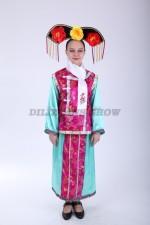 33587. Китайский костюм розовый с голубым