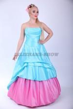 4055. Бальное платье Розовый бутон