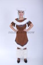 4163. Нанайский костюм для девочки
