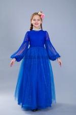 Бальное платье Джульетта в синем цвете