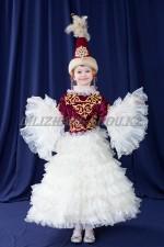 0066. Казахское платье с пышными рукавами
