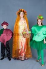 5616. Фото для семейной фотосессии в осеннем стиле. Свекла. Яблоко. Принцесса Осень.