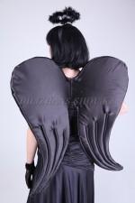 1031r -Темный ангел, черные крылья, парик нимб, перчатки (1)