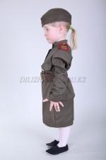m-8504 детский военный костюм для девочки