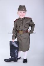 m-8505 детский военный костюм для девочки