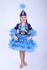 33283. Казахский национальный. Укороченный, в синем цвете.