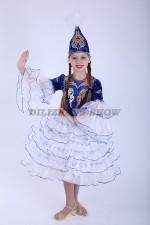 33286. Казахский национальный. Айгуль в синем цвете.