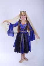 Турецкий костюм для девочки синий
