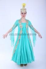 Уйгурский бирюзовый костюм