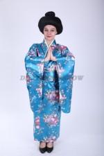 Японское кимоно голубое