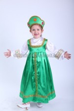Русский народный сарафан зеленый для девочки