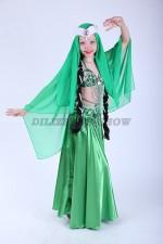 33282. Детский костюм для восточных танцев. Зеленый.