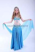 33326. Детский костюм для восточных танцев. Голубой.