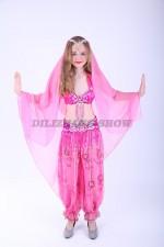 33328. Детский костюм для восточных танцев. Розовый.