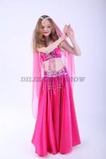 33330. Детский костюм для восточных танцев. Розовый.