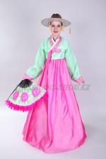 Подростковый корейский костюм ханбок розовый