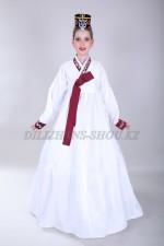 Подростковый корейский костюм ханбок белый
