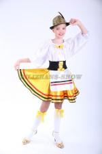 Немецкий национальный для девочки с золотистой шляпкой