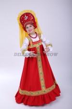 Русский народный сарафан Аленушка красный