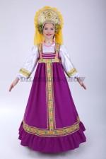 Русский народный сарафан фиолетовый