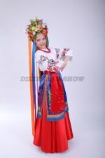 4255. Украинский народный костюм для девочки