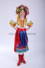 Украинский народный костюм для девочки-танцевальный