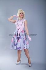 5262. Нарядное платье в стиляжном стиле