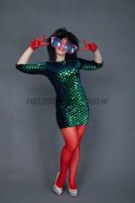 5309. Линда. Платье в стиле диско.