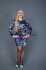5450. Нарядное платье в стиле Диско
