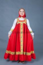 5669. Русский сарафан для девочки