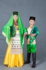 Татарские парные костюмы для мальчика и девочки