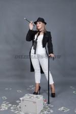 5824. Женский костюм в гангстерском стиле