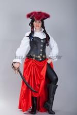4781. Костюм пиратки в красной юбке