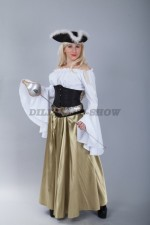 4793. Костюм пиратки в золотистой юбке