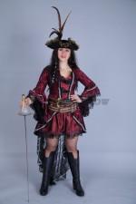 5112. Женский пиратский костюм в готическом стиле
