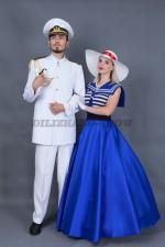 5752. Парные костюмы для вечеринки в морском стиле